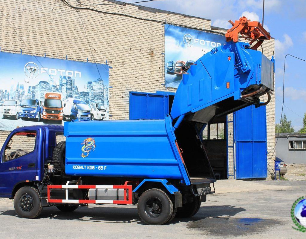 Прессовальный мусоровоз KGB-65 КОБАЛЬТ на шасси FOTONDAIMLER
