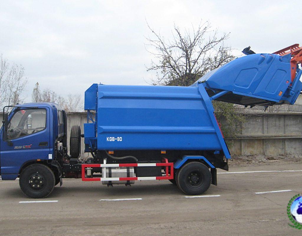 Прессовальный мусоровоз KGB-80 КОБАЛЬТна шасси FOTONDAIMLER