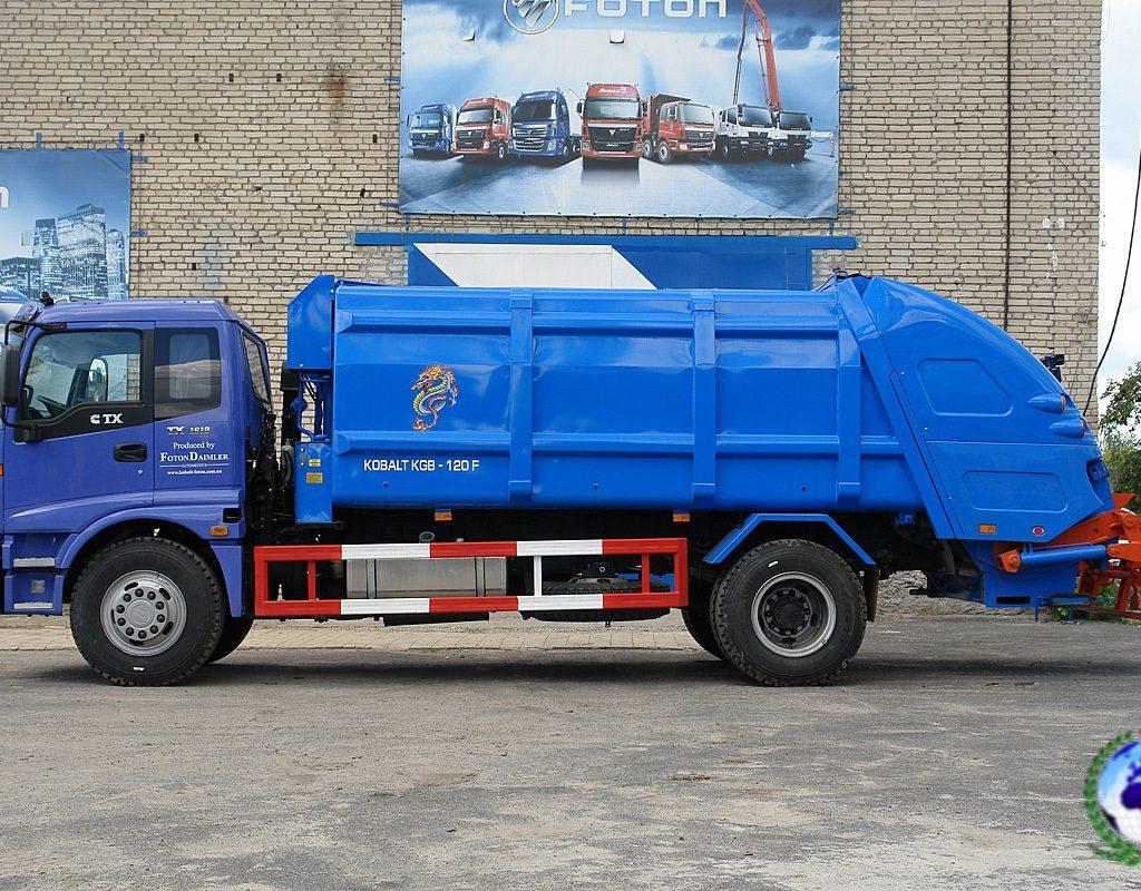 Прессовальный мусоровоз KGB-120 КОБАЛЬТна шасси FOTONDAIMLER
