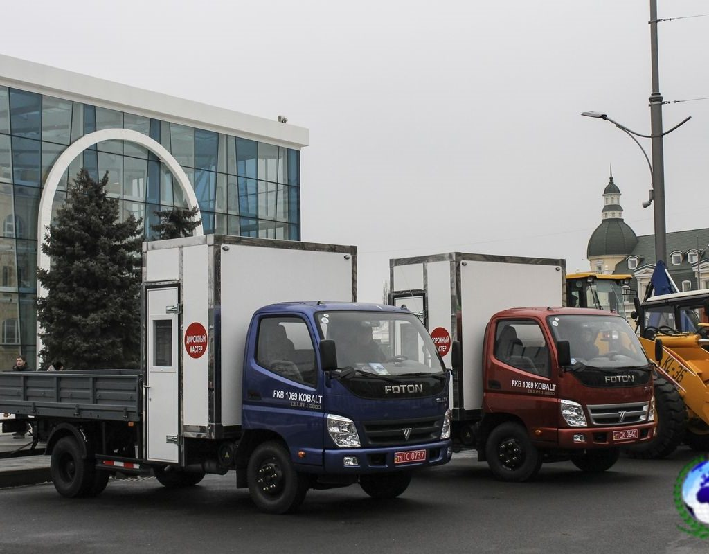 Автомобиль дорожный мастер FKB-1129/02DW KOBALT на шасси FOTON DAIMLER